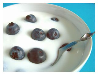 大石さんの無農薬ブルーベリーをヨーグルトとごいっしょにお召し上がりください。